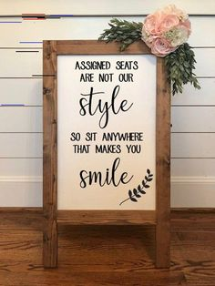 Assigned Seats are Not Our Style, No Seating Plan, Wedding Seating Sign I. - Assigned Seats are Not Our Style, No Seating Plan, Wedding Seating Sign I… – Wedding decorations - Wedding Seating Signs, Diy Wedding Signs, Diy Wedding Decorations, Diy Signs, Wedding Reception Seating, Wedding Backdrops, Wedding Sign In Ideas, Unique Wedding Reception Ideas, Outdoor Wedding Signs