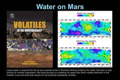 Panel Water on Mars. Water On Mars, Mars Planet, The Martian, Priorities, Meant To Be, Explore, Books, Life, Mars