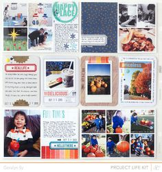Project Life October *PL Kit Only* by qingmei at @Studio_Calico #SCbluenote