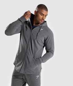 Grey Gymshark Ark Zip Hoodie Clothing, Shoes, Accessories Activewear Size M Terrific Value