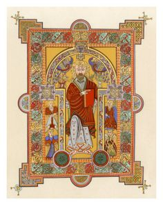 The Original Illuminated manuscript- from the book of kells