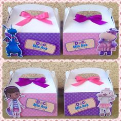 Doc McStuffins favor boxes by NiftyKreations1 on Etsy