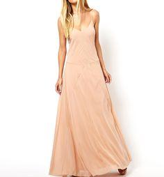 Drop Waist Chiffon Slip Maxi Dress With Seam Detail