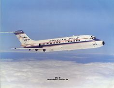 Douglas DC-9-14 N3302L in an industry advertisement for the newly merged manufacturer, circa 1967. The picture, however, would have been taken prior to entering commercial service with Delta Air Lines in 1966. The aircraft would eventually go to Southern Airways in 1973, then Republic Airlines in 1979 before returning to McDonnell Douglas in 1981, never to fly commercially again. (Photo: McDonnell Douglas)