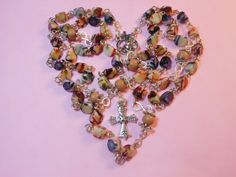 Acrylic shell rosary 'Joyful Prayer' by maggiescornerstore on Etsy