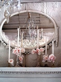 Wow! I love this setting, chandelier and all. #My Timeless Dream Room.