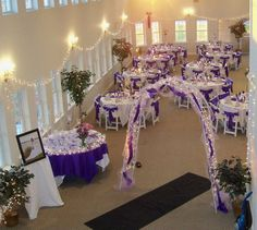 Our wedding reception decor--before it was finished completely..