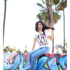 California Sunshine Floral Tees Rocked by the one and only ESSKAYJI (@thesandylion) in Southern California's beautiful Venice Beach the Punjab Floral Tee.  Get yours! Capture by @tmzimages