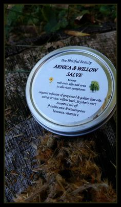 HERBAL PAIN RELIEF Arnica  Willow Bark Oil  by BeeBlissfulBeauty