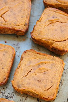 Spiced Pumpkin Bars With Hazelnut Crust