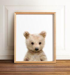 Baby bear cub print Nursery art Woodland animals por TheCrownPrints