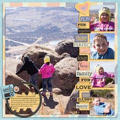 Layout using Love Spoken Here by Heather T, template by Katie the Scrapbook Lady