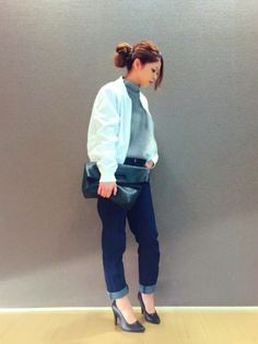 白ブルゾンの女っぽい着こなし♪ブルゾンコーデ☆スタイル・ファッションの参考に♡