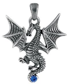New Blue Tatsu Dragon Pendant Collectible Accessory Serpent Necklace Summit. $14.45. Save 53%!