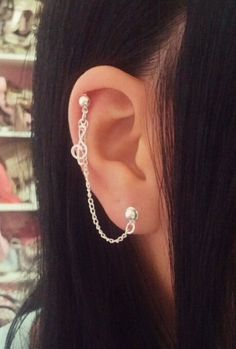 Music Note Treble Clef Cartilage Chain Earring Helix Ear Cuff