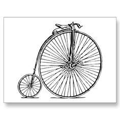 Penny Farthing ~ Vintage Bicycle Bike Cycle - 1 Postcard