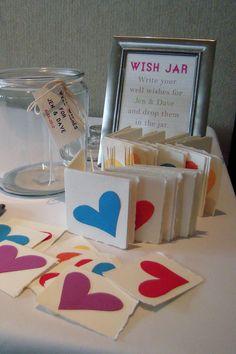 DIY wish jar for bridal shower.