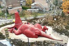 Luiaard artwork Arnhem