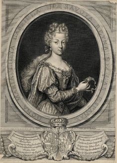 Engraving of Maria Luisa of Savoy, Queen of Spain, 1705 European Costumes, Historical Women, Grisaille, King Charles, Fashion History, Middle Ages, Renaissance, Original Art, Royalty