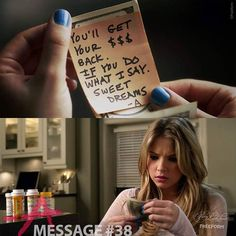 Message #38 from A. Sent to Hanna. Marin home.  12 of 150 // Season 1, Episode 12. #PLLMemoryLane