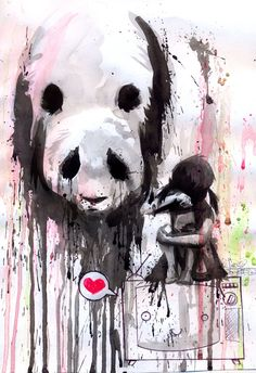 Love, Panda, Graffiti #panda #love #graffiti