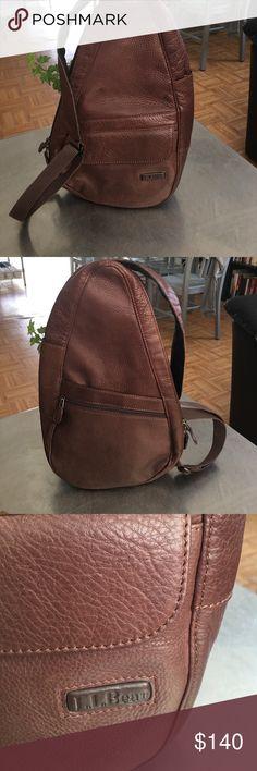 Vintage L.L.Bean Leather Healthy Back Bag/ Unisex EUC/See last pic for description L.L. Bean Bags Backpacks
