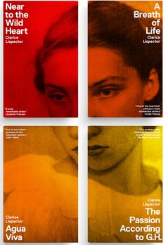 intriguing idea to connect all four covers...having not read the books, I'm not sure how well they convey each of the stories, but they definitely create a specific mood...Claire Lispector's paperback backlist, designed by Paul Sahre, published by New Directions, 2011.