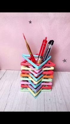 Diy Crafts For Home Decor, Diy Crafts Hacks, Diy Crafts For Gifts, Creative Crafts, Fun Crafts, Diy Crafts For School, Clown Crafts, Paper Crafts Origami, Paper Crafts For Kids
