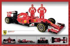 Ferrari F1 Fernando Alonso, Kimi Raikkonen - plakat - 91,5x61 cm  Gdzie kupić? www.eplakaty.pl