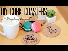 DIY Coasters: Anthropology and Urban Outfitters Inspired - Home Decor