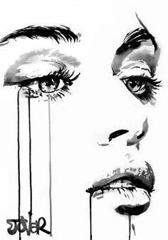 "Saatchi Art Artist Loui Jover; Drawing, ""face study #16"" #art"