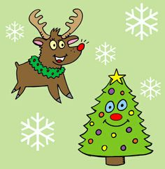 #christmas #deer  #tree #wallpaper  weihnachtsbilder #rentiere #gemalt #lustig #weihnachten
