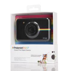Polaroid Snap fotocamera digitale...  Sei un nostalgico delle Polaroid? Oggi il formato tascabile firmato Polaroid  dal design minimalista  combina le immagini digitali con la stampante integrata ZINK consentendo di stampare immediatamente a colori, con stampe 2×3″. ad un prezzo e a portata di tutti.