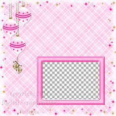 "Layout QP 2A-2 Pink.....Quick Page, Digital Scrapbooking, Christmas Time Collection, 12"" x 12"", 300 dpi, PNG File Format"