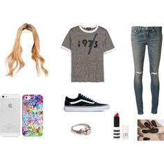 :P by maho-coello on Polyvore featuring moda, Topshop, rag & bone, Vans and Casetify