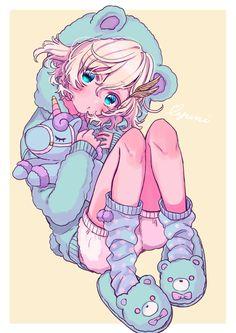 Cute Anime Chibi, Cute Anime Pics, Kawaii Anime Girl, Kawaii Art, Anime Art Girl, Anime Guys, Cute Anime Character, Character Art, Character Design