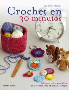Why not get creative with a spot of crochet that you can easily fit into your spare time? If you think you are too busy to whip up a project or two then think again! Crochet is a fantastic craft, it's quick, easy and extremely portable. You can easily sta Quick Crochet, Learn To Crochet, Crochet Yarn, Yarn Crafts, Diy Crafts, Knitting Patterns, Crochet Patterns, Easy Crochet Projects, Crochet Books