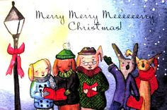 Colourful Characters Make a Joyful Noise by EmmysAnimals on Etsy