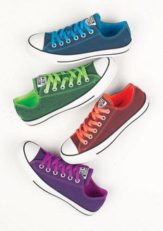 bf1265c94b437f Converse Ox Dark Wash Neon - Sneakers - Shoes - These are pretty awesome!