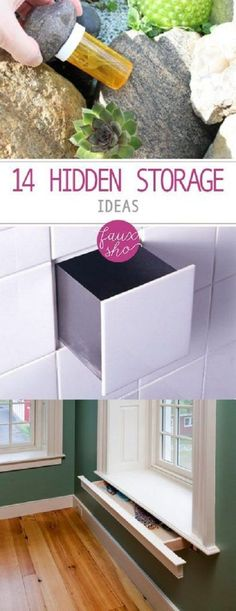Here are 14 ways to cleverly hide things around the home. #diy_organization_shelf