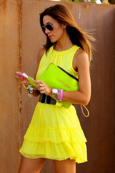 Neon casual summer dress - Save 50% - 90% on Special Deals. http://www.ilovesavingcash.com