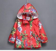 Fashion Flower Print Hoody Girls Coats 2015 New Autumn Kids Outerwear Girls Wind Jackets Coats From Jaderabbit, $88.65 | Dhgate.Com