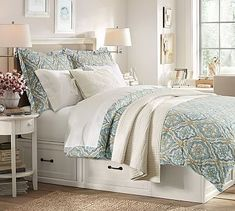Stratton Storage Platform Bed with Drawers #potterybarn