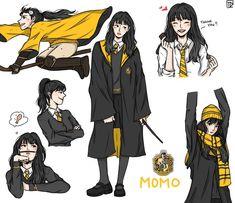"""Hirai Momo - Hufflepuff 🦡 - buys all the Honeydukes express goods and gives really nice warm hugs 🥰 [ x HOGWARTS ]"" Harry Potter Fan Art, Harry Potter Uniform, Hogwarts Uniform, Images Harry Potter, Harry Potter Drawings, Harry Potter Anime, Harry Potter Outfits, Harry Potter Memes, Imprimibles Harry Potter"