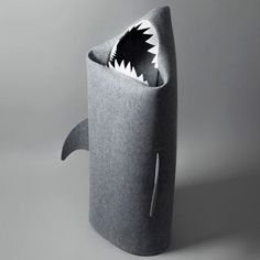 Shark+Laundry+Basket+-+White+Teeth+-+Add+some+jaw-some+fun+to+your+household+chores+with+the+Shark+Laundry+Basket+-+White+Teeth!+This+hungry+shark+will+snap+up+all+your+discarded+garments,+helping+banish+the+floor-drobe+forever! This+novelty+felt+laundry+bin+is+far+more+interesting+than+traditional+baskets,+and+will+add+a+unique,+playful+edge+to+your+interior!+Perfect+for+bathrooms+and+children's+rooms,+this+fun+design+will+make+a+great+conversation+starter+and+will+leave+all+who+encounte