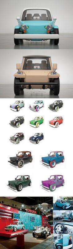 "Concept car ""Camatte""|Booth Design & Color Variations Design|CLIENT: Toyota Motor Corporation"