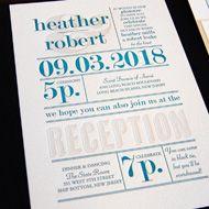 Designers Fine Press | Letterpress Wedding Invitation