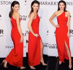 "Best Dressed: Kendall Jenner in Red Gown and Christian Louboutin ""Iriza"" Pumps"