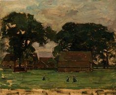 Collectie Online : Piet Mondriaan - Boerderij in Twente Three Primary Colors, Colette, Dutch Painters, Julie, Mondrian, Wassily Kandinsky, Barns, Cottages, Om