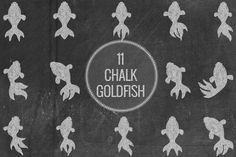 Chalk Goldfish - Objects